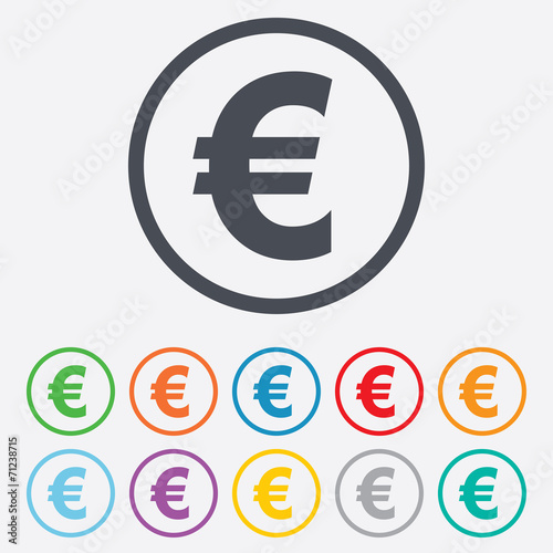Euro Sign Icon Eur Currency Symbol Buy This Stock Vector And