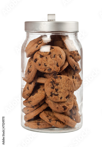 Photographie Pot de biscuits aux brisures de chocolat