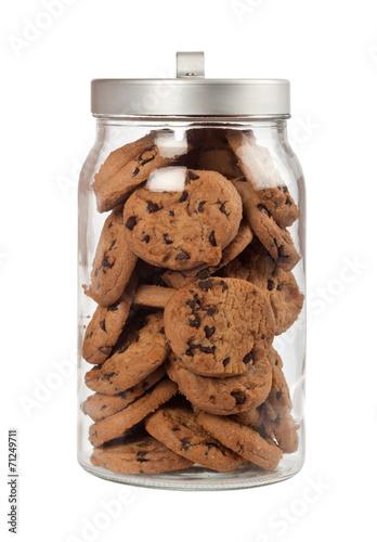 Fotografia Jar of chocolate chip cookies