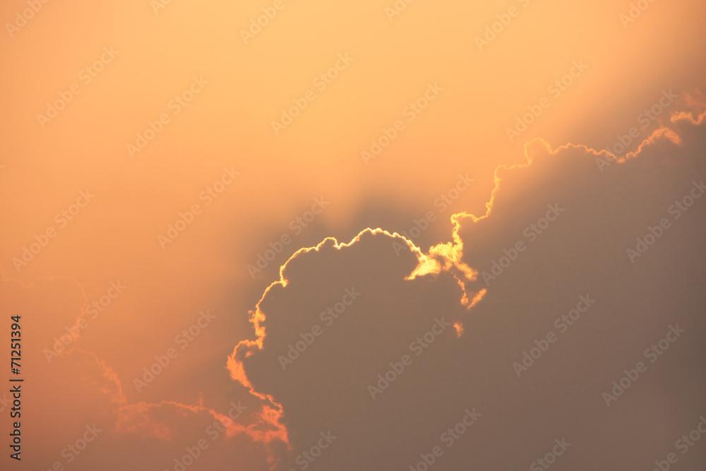 Sunrays above Gadi Sagar temple at sunset, Jaisalmer, India