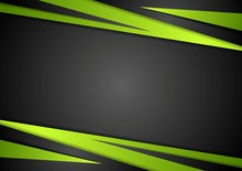 Black And Green Abstract Vector Design