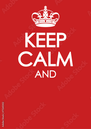 keep calm poster template with similar crown vector Wall mural