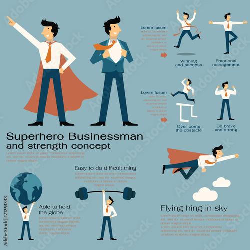 Fotografía  Superhero businessman