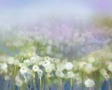 Obraz olejny abstrakcyjne roślin kwiatowych - 71266191