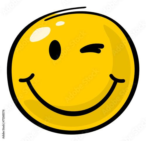 zwinker smiley malen