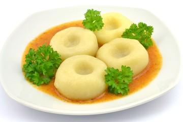 Fototapetadumplings with goulash sauce