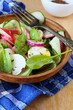 salad with spinach and daikon