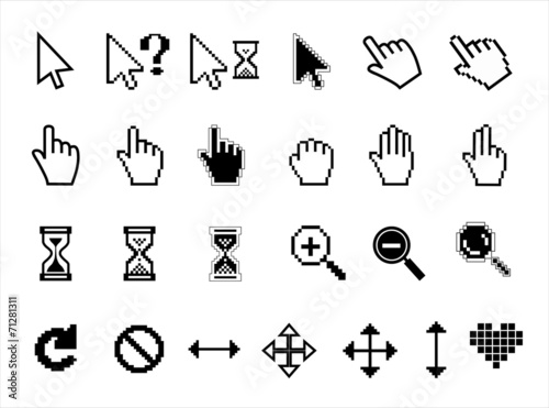 Fotomural  Vector icons
