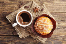Delicious Muffin And Coffee