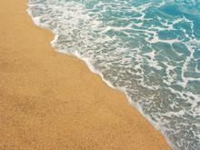 Foamy Shoreline In Costa Brava...