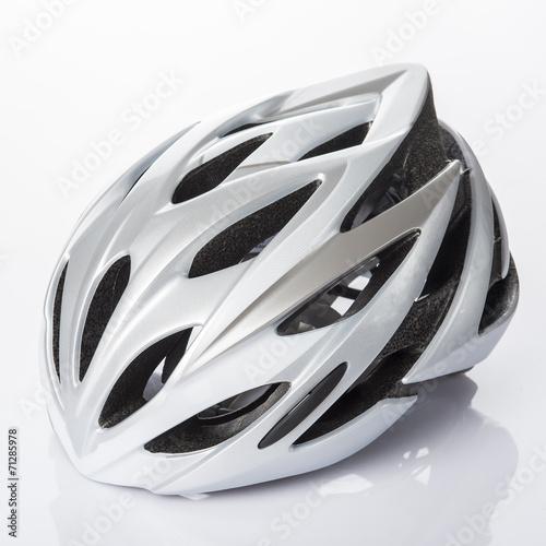 Casco protección bicicleta para hacer deporte con seguridad Canvas Print