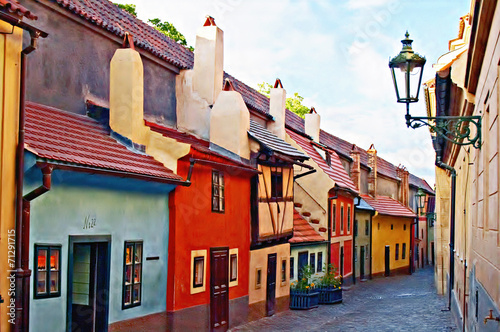 Canvas Prints Prague Golden Lane, Prague castle