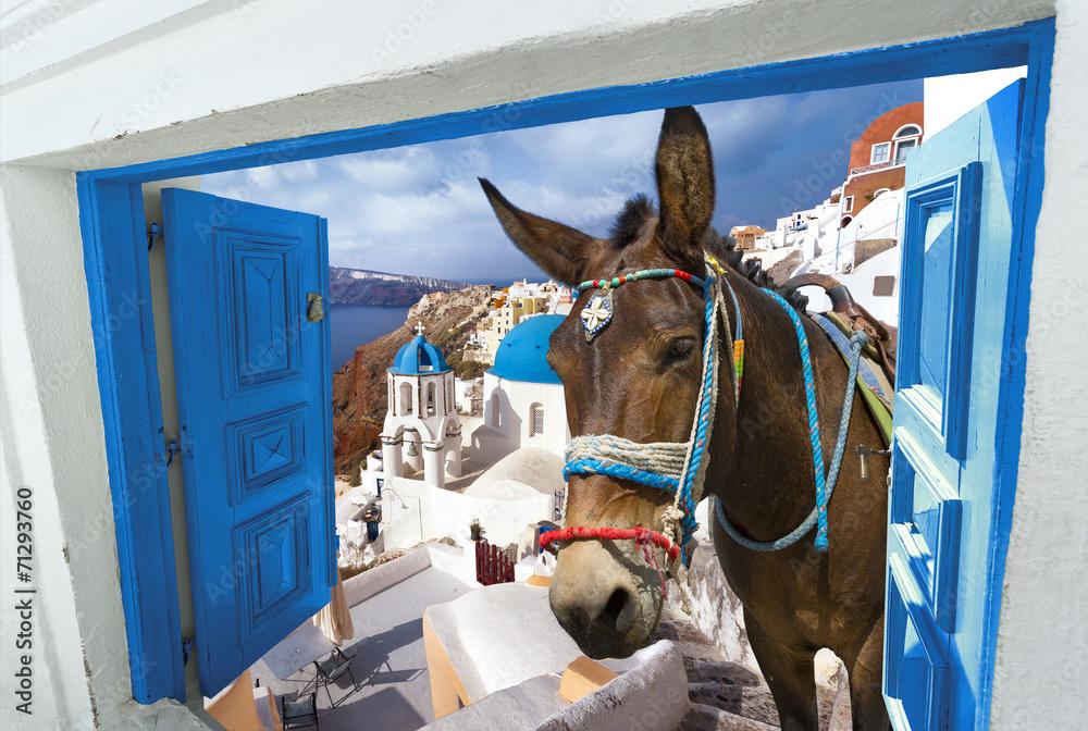 Fototapeta île de Santorin Cyclades Grèce