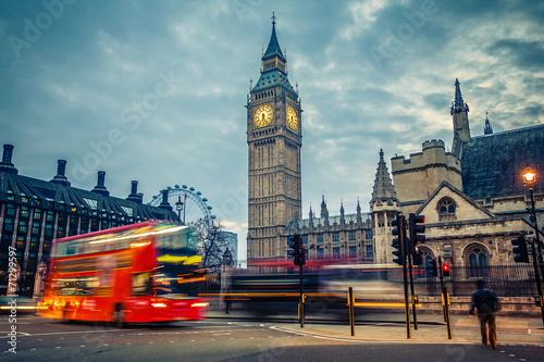 London at early morning