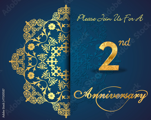 2 year anniversary card sparkles 2nd anniversary buy this stock