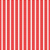 Rot-weißer Hintergrund, Herzen, gestreift, nahtlos wiederholbar