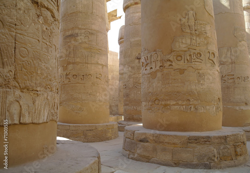 In de dag Egypte Great Hypostyle Hall at the Temples of Karnak . Luxor, Egypt