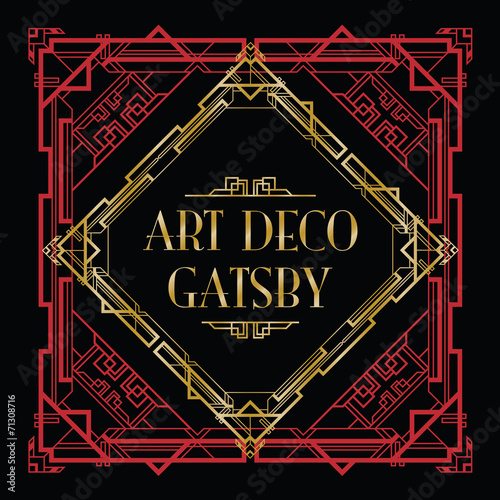 Poster  art deco gatsby style background