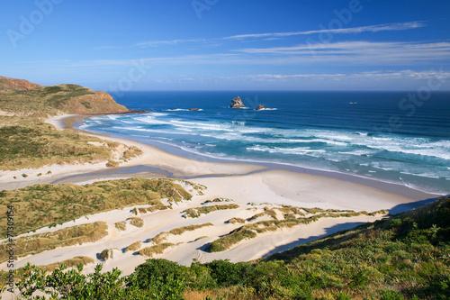 Photo  Beautiful Inviting Beach at Sandfly Bay, Otago Peinsula, New Zea