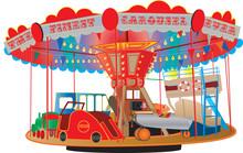 A Vintage Fairground Roundabout