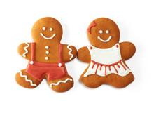 Christmas Gingerbread Couple Cookies