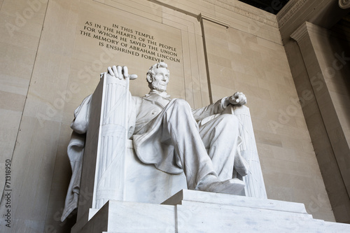 Foto  Abraham Lincoln statue, Lincoln memorial in Washington.