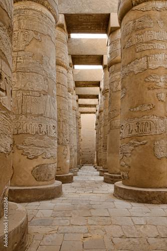In de dag Egypte Ramesseum temple, Egypt.