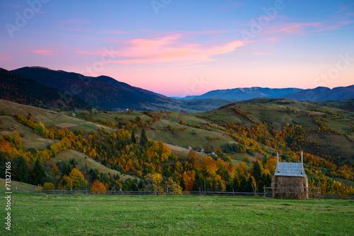 Foto op Plexiglas Crimson Mountains
