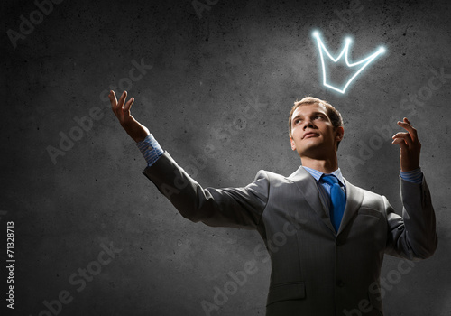 Business king Canvas Print