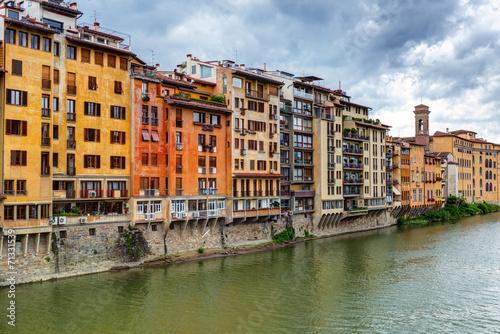 Stickers pour portes Venise Embankment in Florence