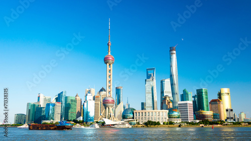 Canvas Prints Shanghai Skyline von Shanghai