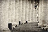 Colonnade in rome black and white vatican city