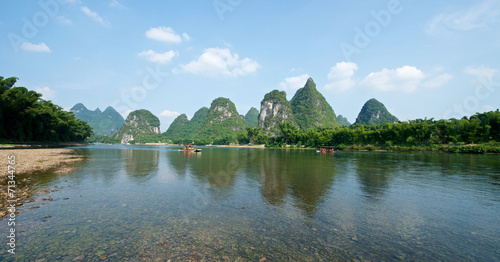 Tuinposter China Guilin Yangshuo Sightseeing