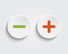 Vector Add, Cancel, Or The Plus And Minus Signs On Buttons Or Ci
