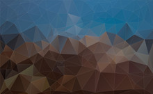 Abstract Blue And Brown Triang...