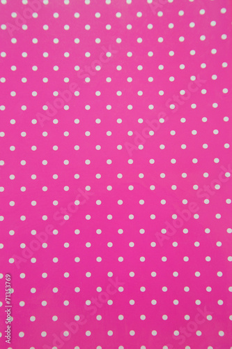 Fotobehang Stof Background with white polka dots