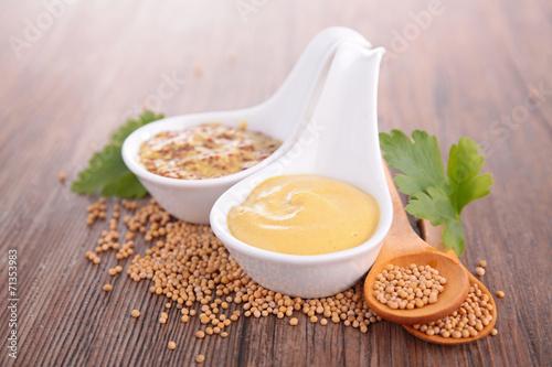 Obraz na płótnie mustard sauce