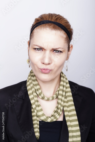 Fotografie, Obraz  Woman Face Expression Portrait