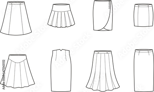 Photo Vector illustration of skirts