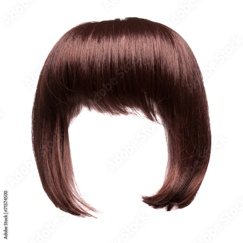 Stampa su Tela brown hair isolated