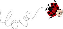 Ladybird Writes Love With Your Flight