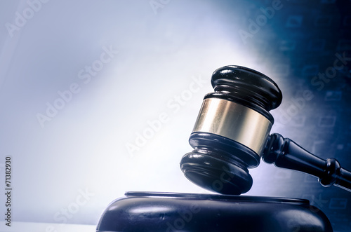 Photo Legal law concept image gavel  screen display
