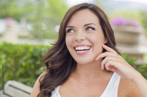 Fotografie, Tablou  Pretty Mixed Race Girl Portrait Outdoors