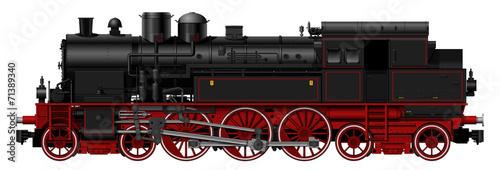 Stampa su Tela the old steam locomotive