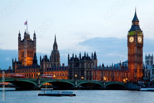 Garden Poster London Big Ben Westminster London England
