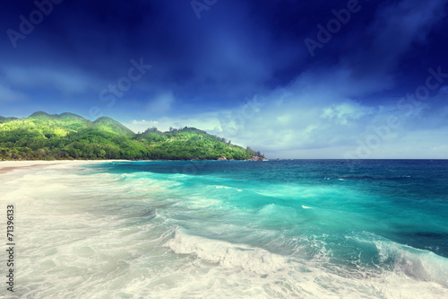 Obrazy na płótnie Canvas beach at Mahe island, Seychelles
