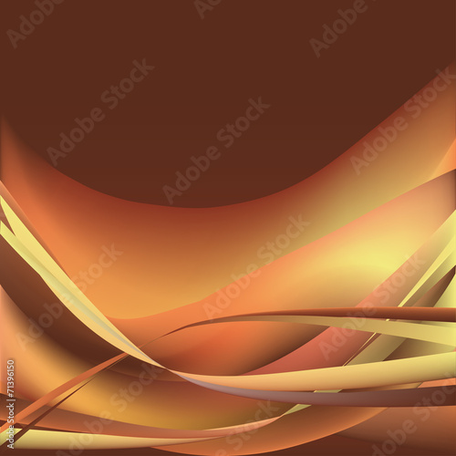 Colorful waves isolated abstract background brown and orange #71396150