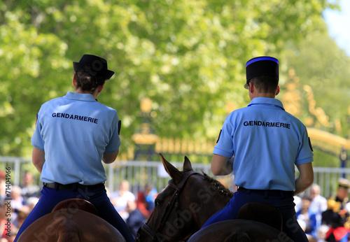 Cuadros en Lienzo patrouille à cheval