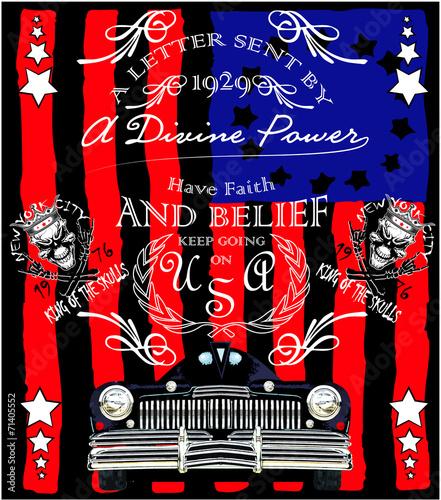 old-american-car-vintage-t-shirt-projekt-graficzny