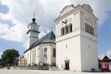 The Church And Belfry In Spisska Sobota, Slovakia